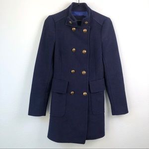 Zara • Military Peacoat Navy Blue Gold Buttons S